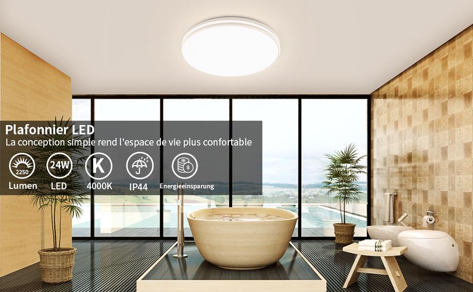 Plafonnier LED La conception simple rend l'espace de vie plus confortable