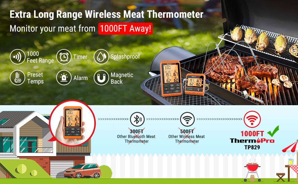 meater plus thermoworks inkbird weber maverick yummly smart meat thermometer wireless
