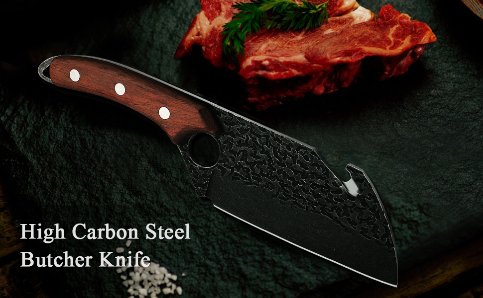 boning butcher knife meat cleaver viking knife for men with leather sheath chinese chopping knife