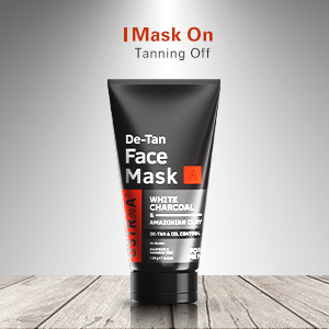 Mask on tanning off
