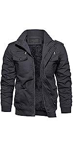 Fall Jackets for Men Softshell Fleece-Lined Winter Windproof Outerwear winter coat Jacket Men