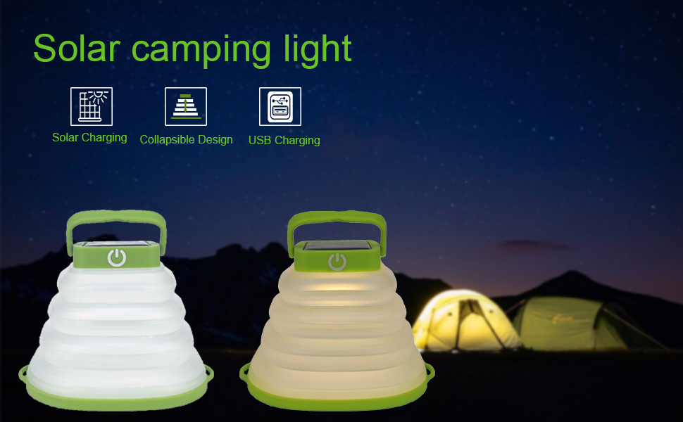 TWO  WAY TO CHARGE  THE CAMP LIGHT