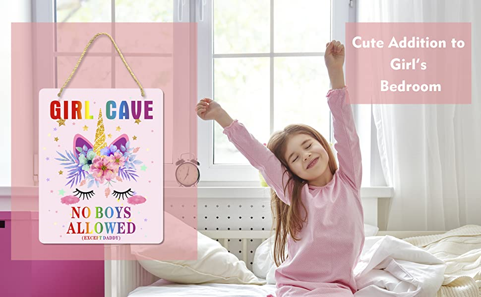 girl cave sign, cute decor for girl's room