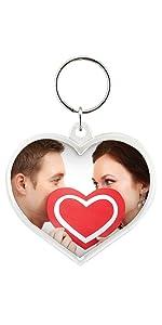 Heart Acrylic Snap-in Photo Keychain