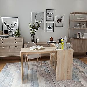 Writing Task Desk With Shelf Storage