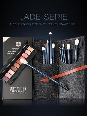 travel bs-mall  vegan eyeliner gel brush shadow brush set rc cosmetics  ecotools brush set complete