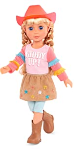 Floe 14-inch pink glitter girls posable doll house clothes accessories rainbow high toy american