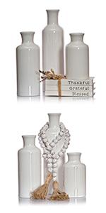 modern vases for home decor ceramic vase set white vases for decor farmhouse decorative vases