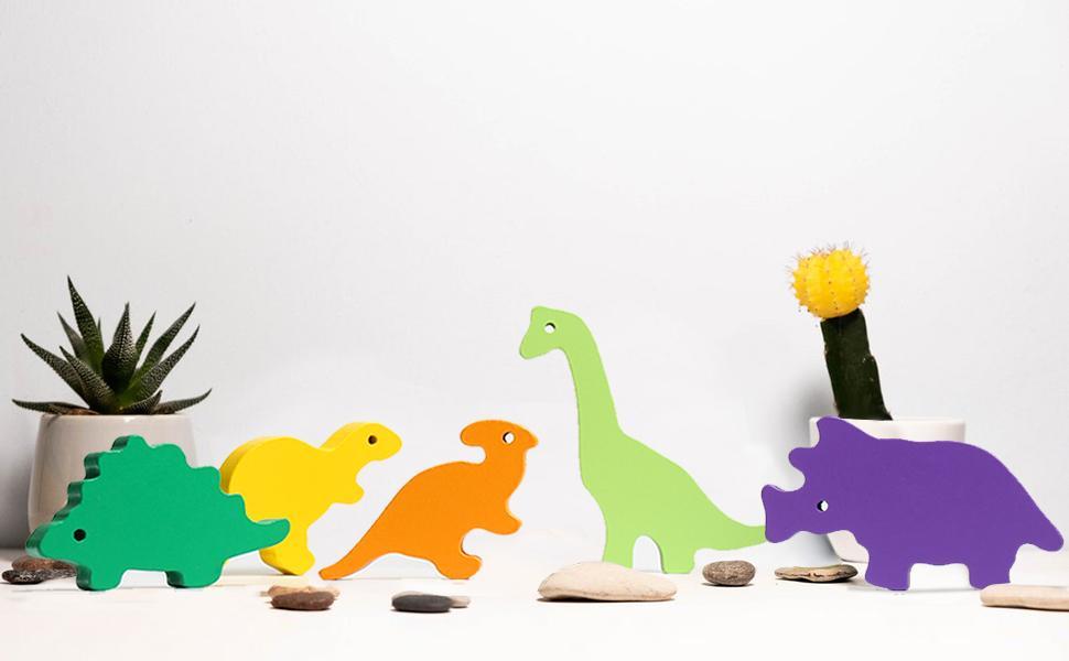 Cute Dinosaur Stacking Toys