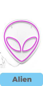 gamer sign alien pink
