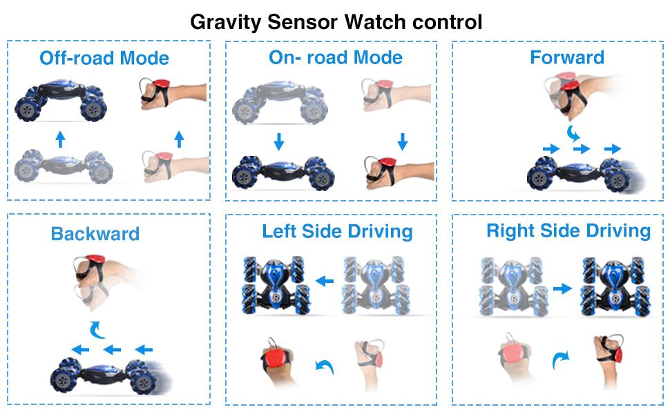 Gravity Sensor Watch Control Operate