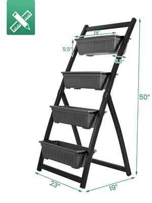 vertical raised box size