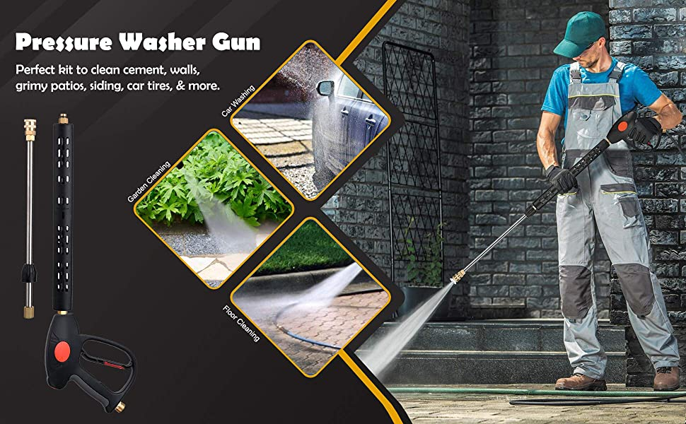 Pressure watering gun