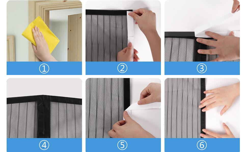 How to install the curtain?