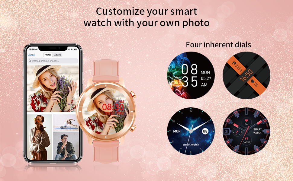 Customize smart watch dial
