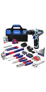 12V Cordless Drill and Home Tool Kit