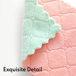 Coral fleece dish towel
