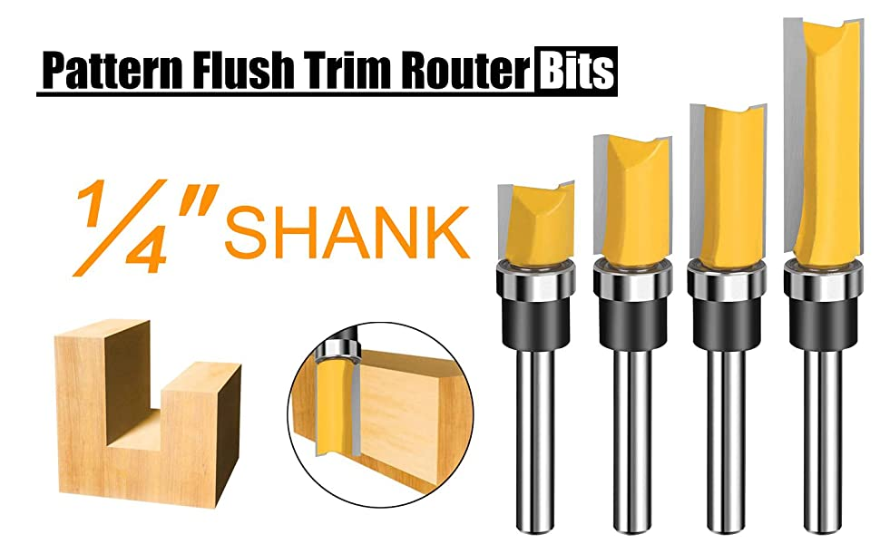 flush trim router bits