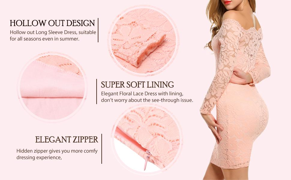 Detials for lace dress
