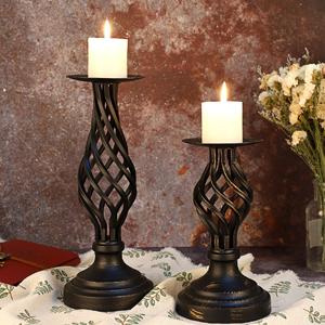 Metal Pillar Candle Stands