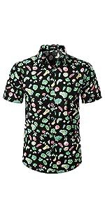 mens hawaiian summer beach shirts