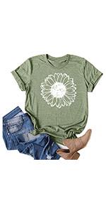 Cute Sunflower Shirts Green(S-3XL)