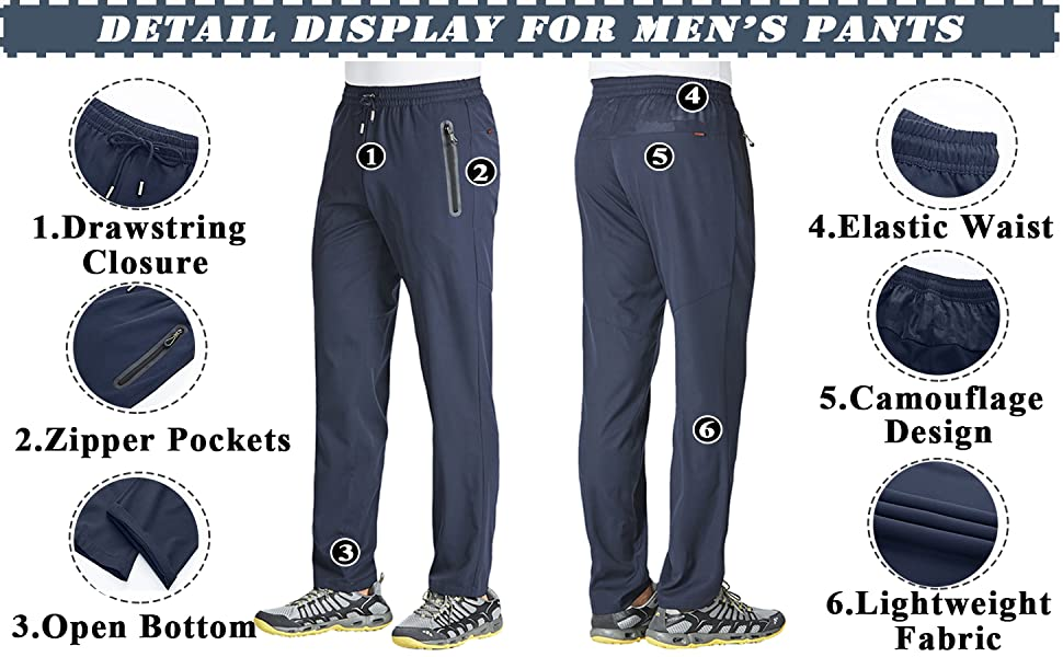 men's hiking amp; jogger pants