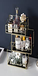 Stackable vanity tray