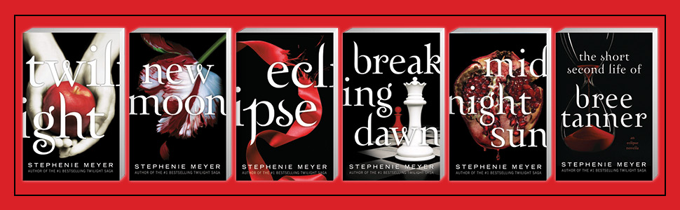 image with six 3D paperback bookshots on red background