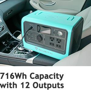 BLUETTI EB70 Portable Power Station 716Wh Capacity with 12 Outputs