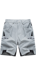 EKLENTSON Mens Hiking Quick-Dry Lightweight Ripstop Gym Shorts with Zip Pockets