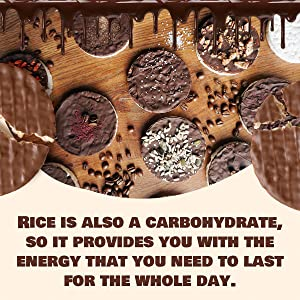 rice is also a carbohydrate, so it provides you with the energy to last for the whole day.