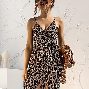 cocktail cami dress,cami dress for party,women cami dress night club,leopard night dress,beach dress