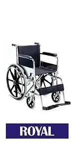 VMS Careline Foldable Wheelchari-Royal
