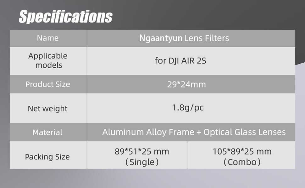 mavic air 2s nd filter set