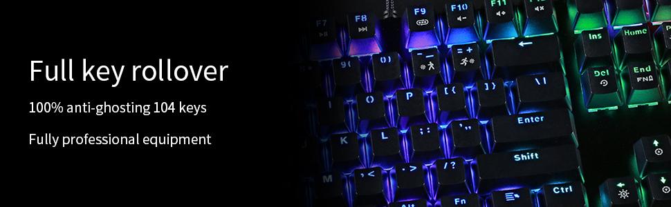 full key rollover 100% anti ghosting 104 key fully professional equipment