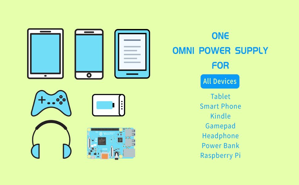 Power Supply for MicroUSB USB-C Tablet Smart Phone Kindle Gamepad Bluetooth headphone Power Bank