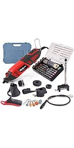 160W 1.4A Corded Rotary Power Tool amp;amp;amp;amp; Full Attachments Kit Set