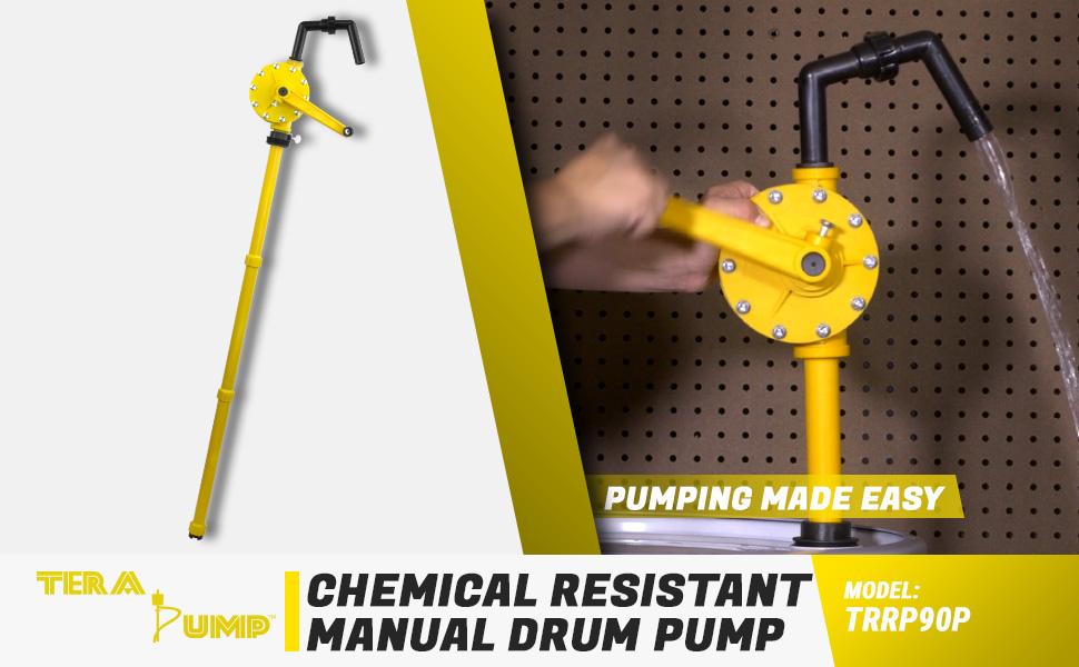 chemical resistant drum pump