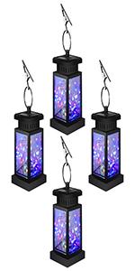 colorful solar hanging lantern