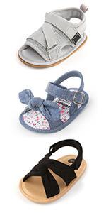 Baby Girls Boys Summer Sandals Non Slip Rubber Soft Sole Toddler First Walker Outdoor Beach Shoes