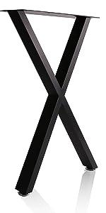 X shape table legs