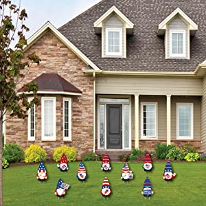 Holiday Gnome Party Lawn Decorations