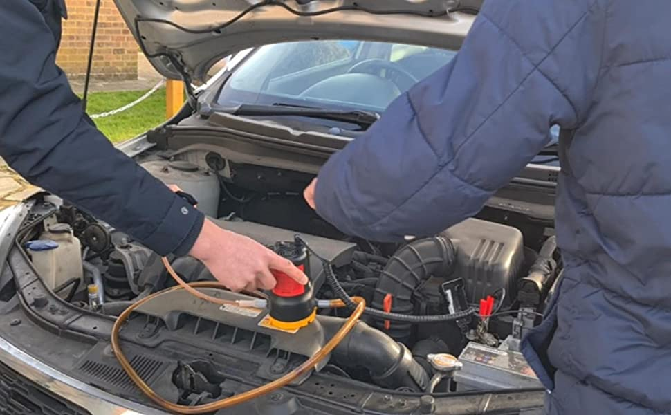 How to use oil change pump