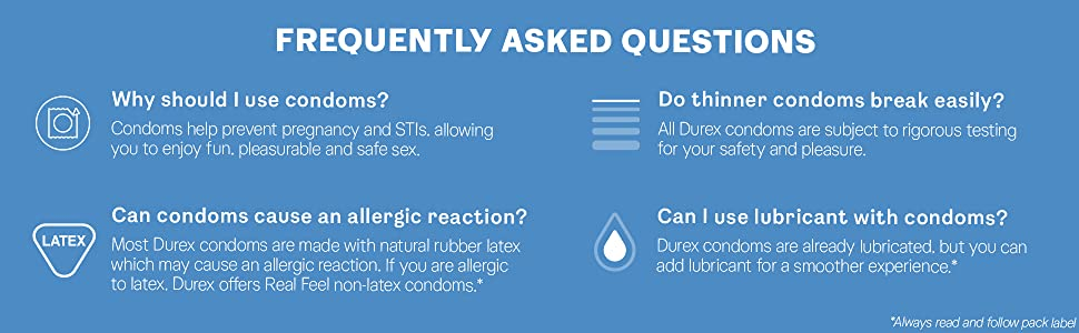 Durex, Frequently Asked Questions