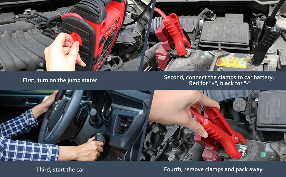 car battery charger jump starter 12v battery portable starter booster box starter box for vehicle6