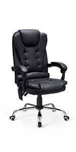 reclinable office chair with heat