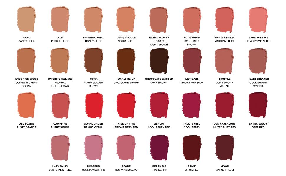 Liquid Matte Lipstick Color Swatches