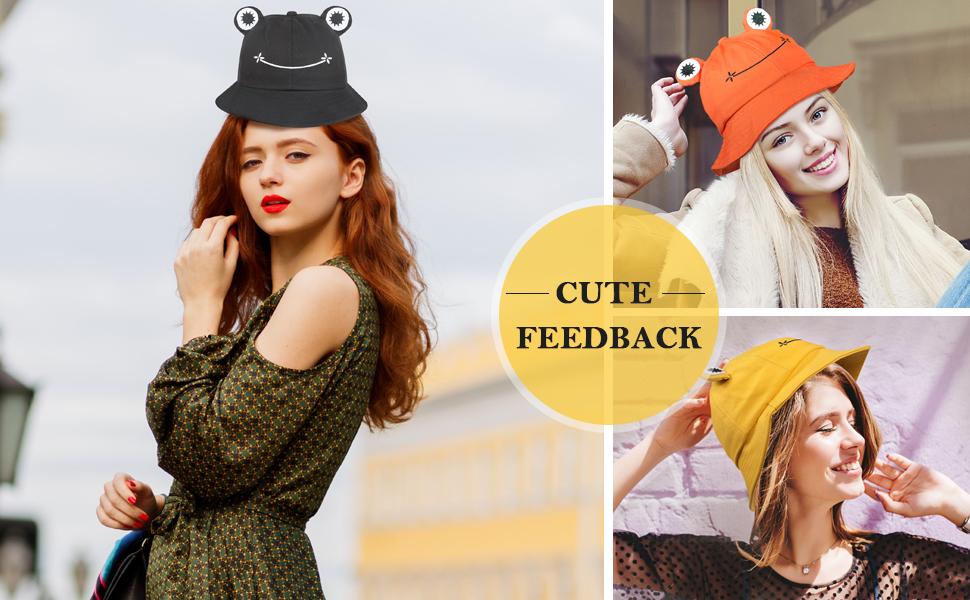 Adult Cute Frog Fun Bucket Hat