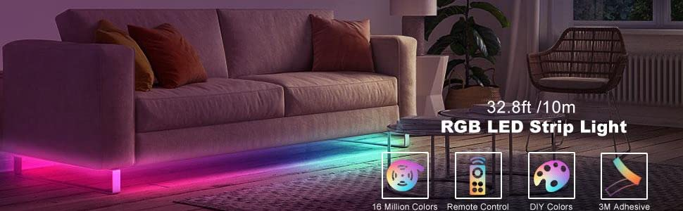 32.8ft RGB LED Strip Light